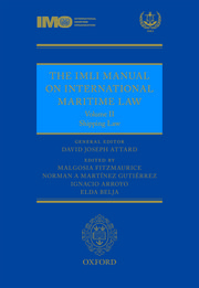 Cover for   The IMLI Manual on International Maritime Law Volume II Shipping Law