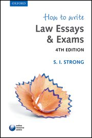 how to write law essays exams paperback s i strong oxford  how to write law essays exams