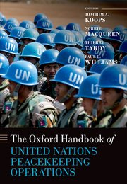 Cover for   The Oxford Handbook of United Nations Peacekeeping Operations