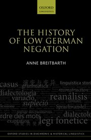 Cover for   The History of Low German Negation