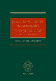 Cover for   Confidentiality in Offshore Financial Law