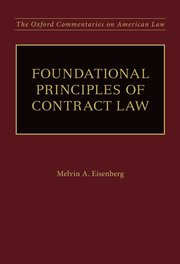 Cover for   Foundational Principles of Contract Law