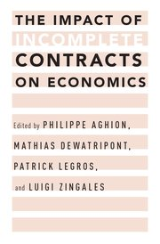 Cover for   The Impact of Incomplete Contracts on Economics