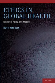 Cover for   Ethics in Global Health