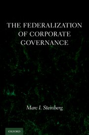 Cover for   The Federalization of Corporate Governance