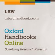 Cover for   Oxford Handbooks Online: Law