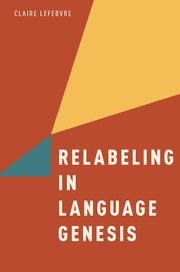 Cover for   Relabeling in Language Genesis