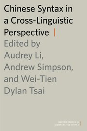Cover for   Chinese Syntax in a Cross-Linguistic Perspective