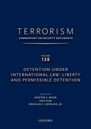 Cover for   TERRORISM: COMMENTARY ON SECURITY DOCUMENTS VOLUME 128