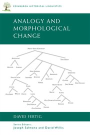 Cover for   Analogy and Morphological Change