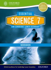 Cover for   Essential Science for Cambridge Secondary 1 Stage 7 Workbook
