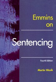 Cover for   Emmins on Sentencing