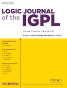 Cover for Logic Journal of the IGPL - 13689894