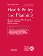Cover for Health Policy and Planning