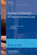 Cover for European Journal of International Law