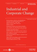 Cover for Industrial and Corporate Change