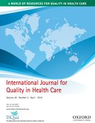 Cover for International Journal for Quality in Health Care