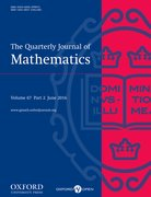 Cover for The Quarterly Journal of Mathematics