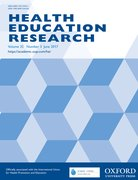 Cover for Health Education Research