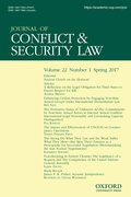Cover for Journal of Conflict and Security Law
