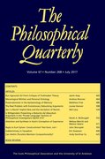 Cover for The Philosophical Quarterly