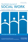 Cover for The British Journal of Social Work