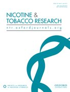 Cover for Nicotine and Tobacco Research