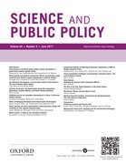 Cover for Science and Public Policy