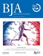 Cover for BJA: British Journal of Anaesthesia