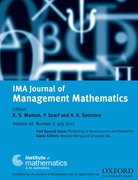 Cover for IMA Journal of Management Mathematics