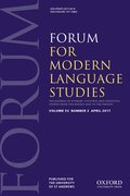 Cover for Forum for Modern Language Studies