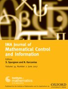 Cover for IMA Journal of Mathematical Control and Information