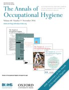 Cover for The Annals of Occupational Hygiene