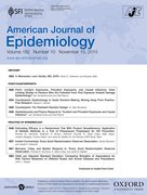 Cover for American Journal of Epidemiology