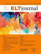 Cover for ELT Journal