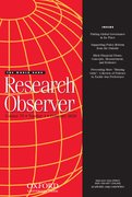Cover for The World Bank Research Observer