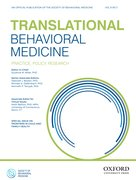 Cover for Translational Behavioral Medicine