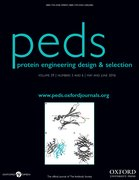 Cover for Protein Engineering, Design and Selection