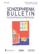 Cover for Schizophrenia Bulletin