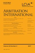 Cover for Arbitration International