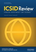 Cover for ICSID Review - Foreign Investment Law Journal
