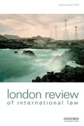 Cover for London Review of International Law