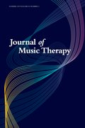 Cover for Journal of Music Therapy