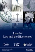 Cover for Journal of Law and the Biosciences
