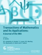 Cover for Transactions of Mathematics and its Applications - 23984945