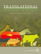 Cover for Translational Animal Science