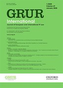 Cover for GRUR International