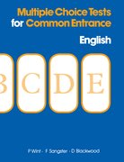 Cover for Multiple Choice Tests for Common Entrance - English