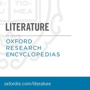 Cover for Oxford Research Encyclopedias: Literature