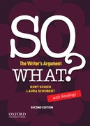 Cover for SO WHAT? The Writer